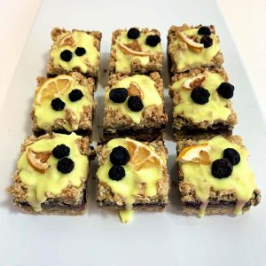 Lemon Blueberry flapjack