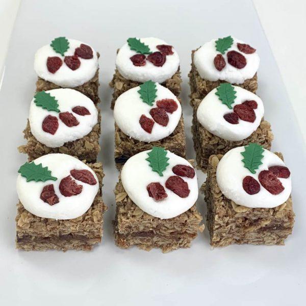 Mince pie vegan gluten-free flapjack