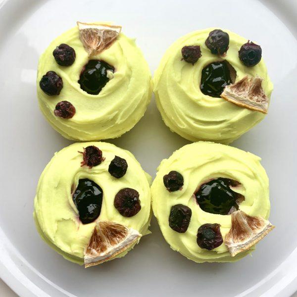 Lemon Blueberry Vegan Gluten-Free Baked Doughnuts
