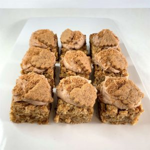 Biscoffery vegan gluten-free flapjack