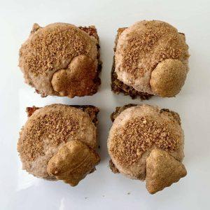 Biscoffery vegan gluten-free flapjack treats