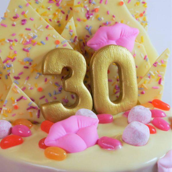 Stand Up Fondant Number Vegan Gluten-free Birthday Cake