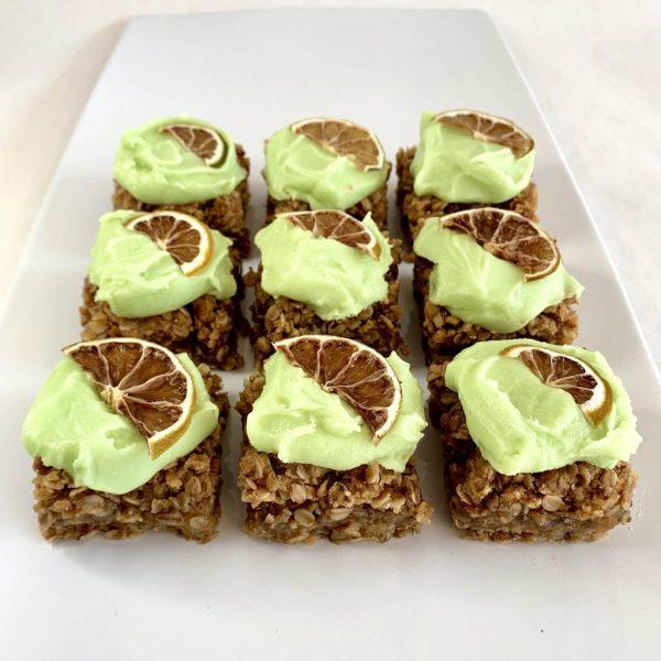 Key Lime Pie Vegan Gluten Free Flapjack