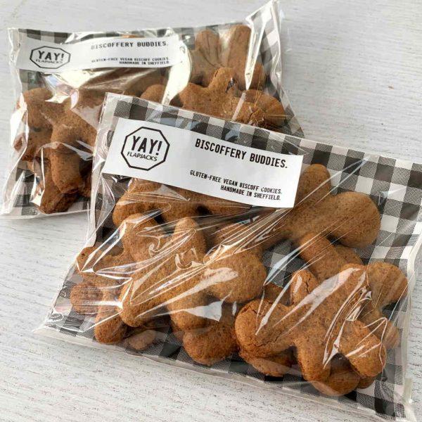 Box of buddies vegan gluten-free biscuits