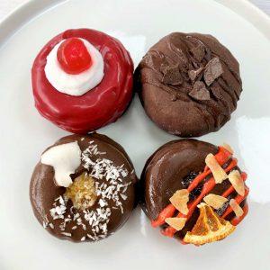 vegan gluten-free Chocotastic chocolate doughnut box set