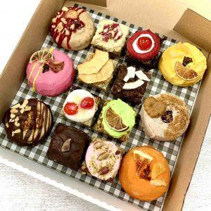 Party Box lucky dip doughnuts flapjacks vegan gluten-free treats