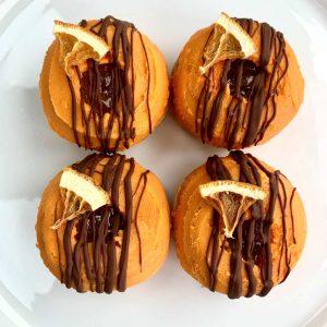 A Chockwork Orange doughnut