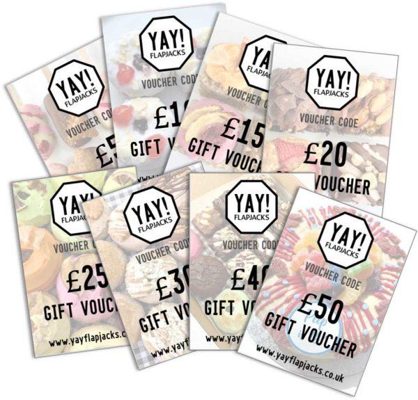 YAY! Flapjacks range of gift vouchers