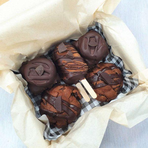Fudge em 3 of a kind box set gluten-free vegan treats cookies flapjacks