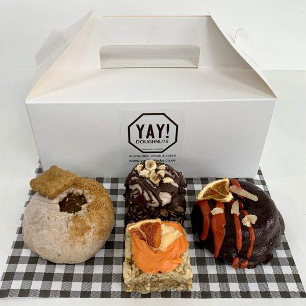 Two and Two Box Set gluten-free vegan doughnuts flapjacks treats