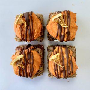 A Chockwork Orange vegan gluten-free flapjack treats