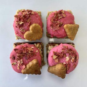 Strawberry Shortcake flapjack vegan gluten-free treats